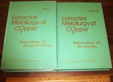 Extractive Metallurgy Of Copper 2 Vol by Yannopoulos 1977 Mining Electrowinning