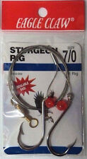 Sturgeon Rig, Size 7/0, FOUR Packs (with 1 Rig Each), Eagle Claw #06010-009