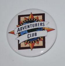 Adventurers Club Magnet or Pin Button Disney Vintage Retro Pleasure Island Art
