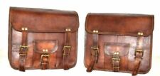 Motorcycle Side Saddle Bag Pouch Leather Side Pouch Saddle Panniers 2 Bags