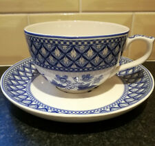 "Spode Blue Room Collection ""Geranium"" Jumbo Cup and Saucer"