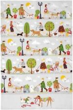 Ulster Weavers tea towel Walkies dog walking, cotton