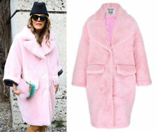 Faux Fur Hand-wash Only Solid Regular Coats & Jackets for Women