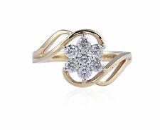 Pave 0,55 Cts Ronde Brillante Couper Diamants Mariage Bague En 750 Solide 18K Or