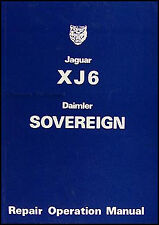 Jaguar XJ6 Repair Manual 1974 1975 1976 1977 1978 1979 Shop Service XJ6C XJ6L
