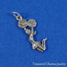 Silver CHEERLEADER Cheer Cheerleading CHARM PENDANT