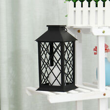 Solar Powered LED Light Garden Outdoor Candle Lantern Hanging Lamp Waterproof