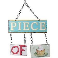 Piece Of Cake Chic N Shabby Jointed Metal Kitchen Wall Sign
