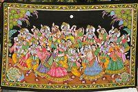 Krishna Tenture indienne Batik murale Paillettes Yoga Hippie Boho Inde Hindou