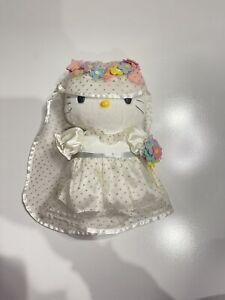 Vintage Hello Kitty Romantic Wedding Bride Mcdonalds Plush Toy 1999