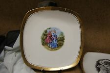 Decorative J.K. Carlsbad Courting Couple Made in Western Germany Bavaria Plate