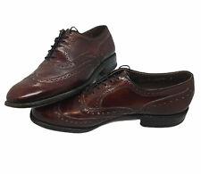 Allen Edmonds McAllister Mens Oxford Wingtip Shoes Size 9D Leather Cordovan 6271