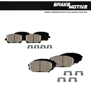 For 2018 Chevy Equinox Buick Regal Sportback Front and Rear Ceramic Brake Pads