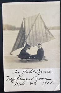 1905 Greenport NY USA RPPC Postcard cover To Tully Matheus Bros Ice Jackt