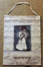 Willow Tree Classic Angel Bless & Keep All Safe Tapestry Bannerette Wall Hang