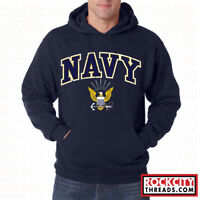 US NAVY LOGO HOODIE United States Crest Military Hooded Sweatshirt Hoody USNAVY