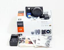 Sony Alpha NEX-5 14.2MP  Digital Camera BLACK Body ONLY 12K SHUTTER COUNT