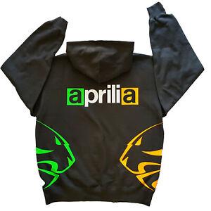 Aprilia Racing INSPIRED 2 LIONS Hoodie  Graphite and fluoro design sm to xxl m