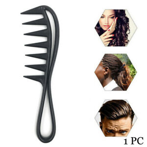 Shark Plastic Comb Detangling Hairdressing Salon Styling Tool Wide Tooth Comb