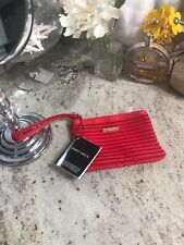 Nwt New Giorgio Armani Red Satin Wallet Clutch  Coin Purse Perfumes Evening Bag