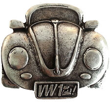 Gürtelschnalle Auto Käfer, silberfarbig aus Metall