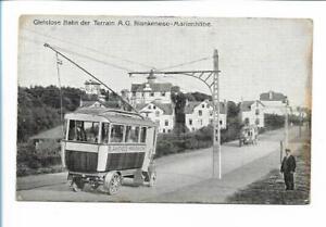 XX14106/ Hamburg Gleislose Bahn Blankenese - Marienhöhe Elektrobus Ak ca.1912