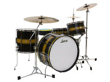 Ludwig Club Date Vintage 14x20,14x14,8x12 Black/Gold Drum Set Kit FREE US Ship