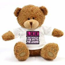 Lee - The Woman, Myth, Legend Teddy Bear - Gift For Fun