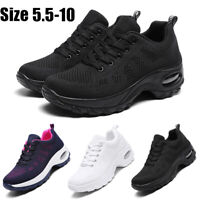 Women's Air Cushion Running Shoes Breathable Mesh Sport Walking Tennis Sneakers