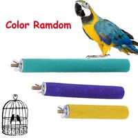 Color Random Bird Cage Parrot Perches Stand Paw Grinding Station Platform