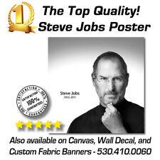 """24""""x24"""" - STEVE JOBS 1955 - 2011 Premium Popup Poster / Waterproof"""