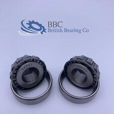 Pair of 30302 Taper Roller Bearing 15x42x14.25mm 30302JR