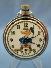 VINTAGE 1960's ** DONALD DUCK **  SMITHS EMPIRE ADVERTISING POCKET WATCH  (RARE)