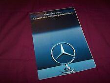 Prospectus  / Brochure MERCEDES BENZ Gamme / Full line 1985 / 1986 //