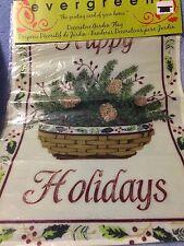 "Evergreen: ""Happy Holidays"" 12"" X 18"" Flag - New"
