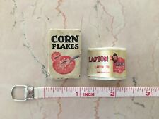 VIntage Lot of 2 CORN FLAKES  & TEABAGS 3D Refrigerator Magnets