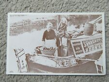 Vintage c1906 Horse Drawn Narrowboat at Brentford - REPRO Postcard