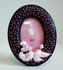 ReTrO DeSiGn! Pink Poodle Polka Dot Oval Picture Frame UP