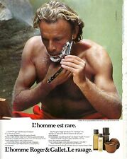 PUBLICITE ADVERTISING 034 1984 ROGER & GALLET  l'Homme et le rasage