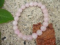 Rose Quartz 8mm Bracelet Crystal Healing Chakra Balance Love Relationship Yoga