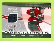 "06-07 UPPERDECK POWER PLAY ""THE SPECIALISTS"" BRIAN ROLSTON JERSEY - WILD"