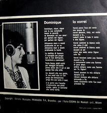 """ORIETTA BERTI CANTA SUOR SORRISO 7"""" (SOEUR SOURIRE) ITALY 1964 DOMINIQUE"""