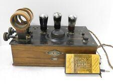 Rare Antique 1927/28 Seibt Radio Model EA337a w/ Original Battery Germany