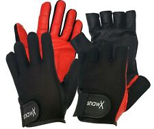 More details for shaw drum gloves - fingerless and full fingered - black or red