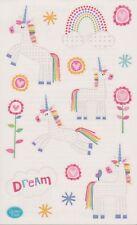 Mrs. Grossman's Giant Stickers - Dreamy Unicorns - Rainbows & Flowers - 2 Strips