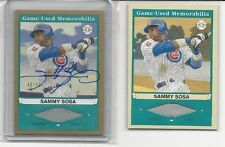 2003 Sammy Sosa UD Play Ball Game Jersey / Game Jersey Auto /50 Cards #SS1 / SS2