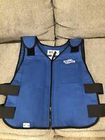 NEW! Cooling Vest, Blue, 5 to 10 hr.,M/L 6626-BLUE, Size Medium/Large, Rare!