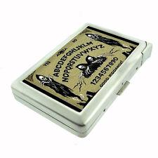 Ouija Goth Skeleton Skull Punk D 75 Cigarette Case Built in Lighter Metal Wallet