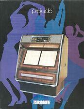 """Volantino Pubblicitario (Sheet) Juke Box """"Prelude""""- Rowe  anni '60"""