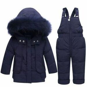 Winter Kids Snowsuit Jackets Hoodies Duck Down Ski Suit Girls Snow Wear Jumpsuit
